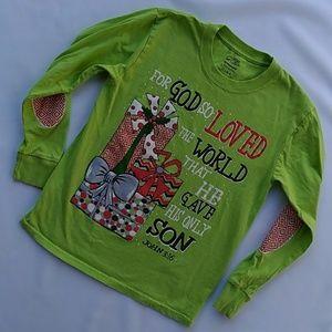 Lime green Christmas shirt